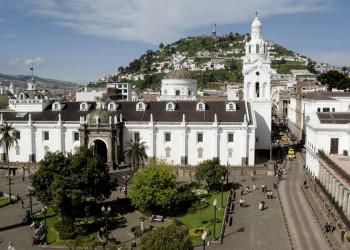 Blick auf den El Panecillo in Quito