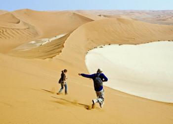 Sanddünen in der Namibwüste in Namibia