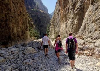 Wandern durch die Samariaschlucht