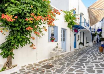 Gassen in Parikia auf der Insel Paros