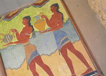 Wandmalereien im Palast von Knossos