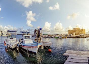 Der Hafen von Paphos auf Zypern