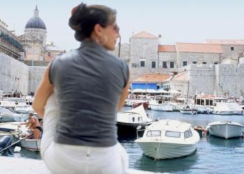 Blick vom alten Hafen auf die Altstadt von Dubrovnik