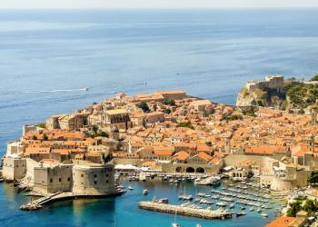 Die Altstadt von Dubrovnik von oben