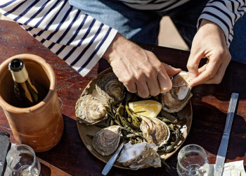 Austernprobe in der Bretagne