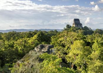 Mayaruinen von Tikal in Guatemala