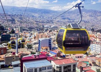 Die Seilbahn von La Paz in Bolivien