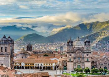 Panoramablick auf Cusco in Peru