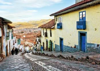 Eine Gasse in der Inkahauptstadt Cusco