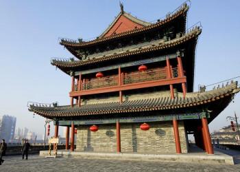 Wachturm der alten Stadtmauer von Xian, China
