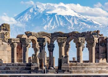Blick auf den Ararat von Armenien aus