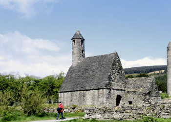 Klosteranlage in Glendalough, County Wicklow, Irland