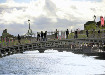 Half Penny Bridge in Dublin, Irland
