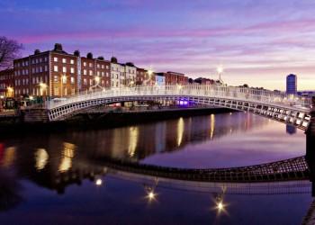 Die Half Penny Bridge in Dublin
