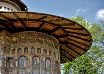 Fresken des Moldauklosters Voronet in Rumänien