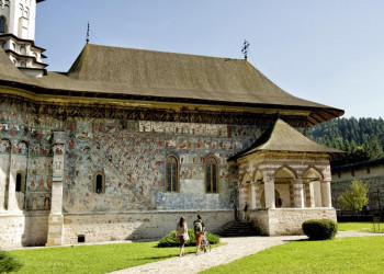 Besuch des Klosters Suceivit auf der Studienreise durch Rumänien