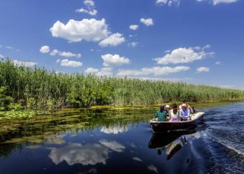 Bootsfahrt im Donaudelta auf der Studienreise durch Rumänien