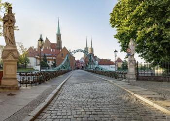Die Dombrücke in Breslau (Wroclaw)