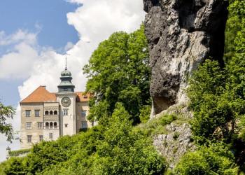 Renaissanceschloss Pieskowa Skala im Nationalpark Ojcow