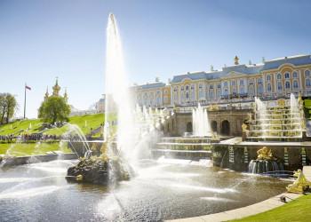 Schloss Peterhof, die Sommerresidenz von Zar Peter dem Großen