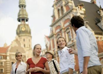 Reisegruppe in Riga