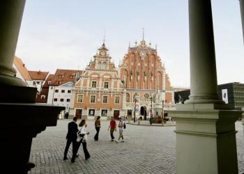 Das Schwarzhäupterhaus in Lettlands Hauptstadt Riga