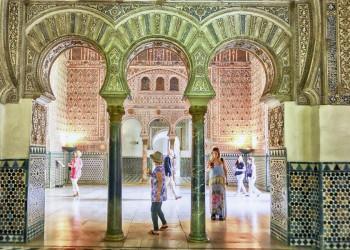 Im Alcázar in Sevilla, Andalusien