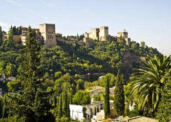 Ausblick auf die Alhambra in Granada