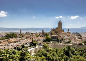 Blick auf Segovia