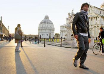 Auf dem Platz der Wunder in Pisa, Toskana