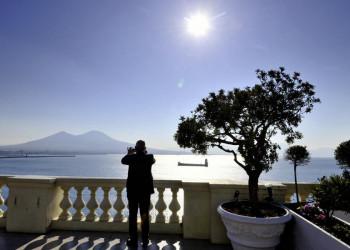 Wacht über den Golf von Neapel: der Vesuv