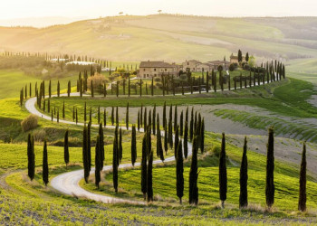 Eine typisch toskanische Landschaft bei Siena