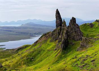 Zackige Felsformationen auf Skye