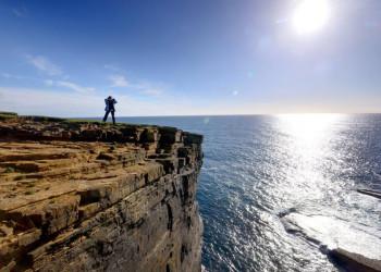 Blick von Orkney Mainland aufs Meer