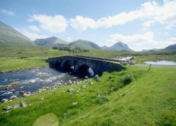 Ursprüngliche Landschaft in den Highlands