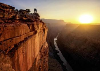 Blick hinunter in den Grand Canyon, USA