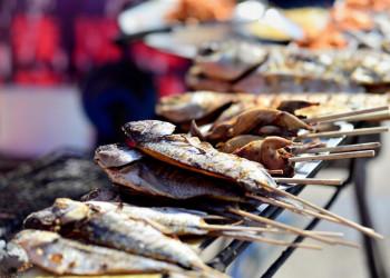 Frischer Fisch, hier vom Grill in Norwegen