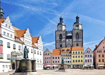 Der Marktplatz in Wittenberg