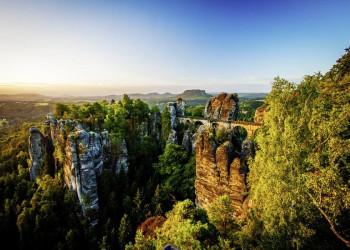 Wie gemalt: die Bastei in der Sächsischen Schweiz