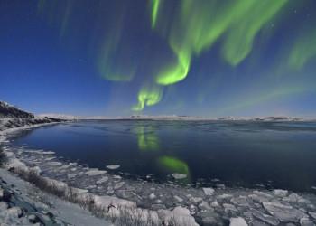 Polarlichter über dem Nationalpark Thingvellir (UNESCO-Welterbe)