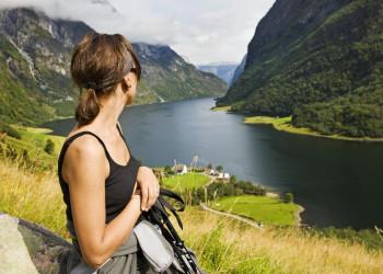 Blick in einen der vielen Fjorde von Norwegen