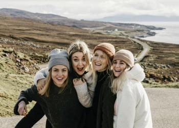 Viel Sapß in der Gruppe in den Highlands von Schottland
