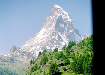 Das Matterhorn in der Schweiz