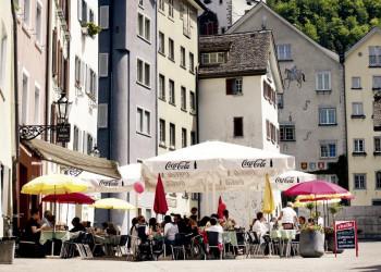Der Arcasplatz in Chur