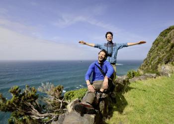 An der windumtosten Küste von Faial
