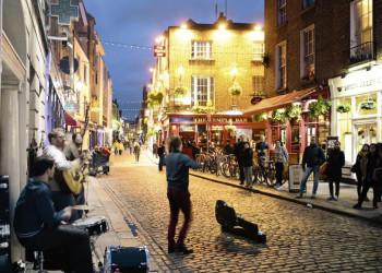 Abendstimmung in den Gassen von Dublin